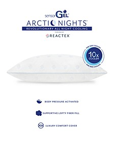 Arctic Nights 10x Cooler Supportive Fiber Bed Pillows Powered by REACTEX