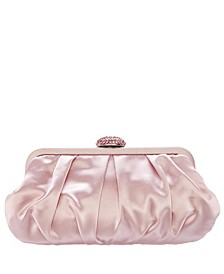 Concord Pleated Frame Clutch With Pave Clasp