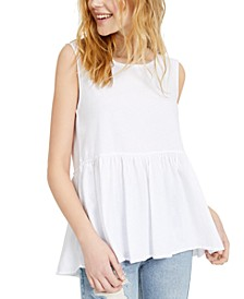 Juniors' Babydoll Cotton Tank Top