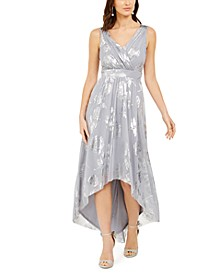 Allover Gold-Foil High-Low Dress