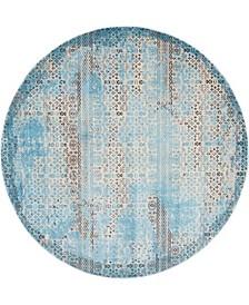 "Fate FAT01 Blue 7'10"" Round Area Rug"