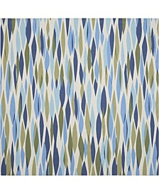"Shady Brights SHA01 Aquamarine 7'9"" x 7'9"" Square Area Rug"