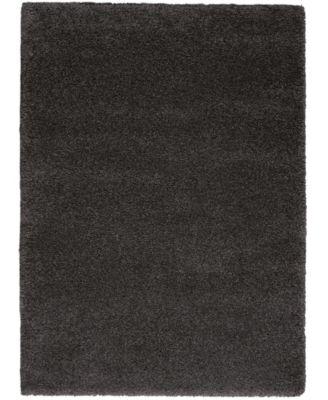 "Cali Shag CAL01 Charcoal 5'3"" x 7'3"" Area Rug"