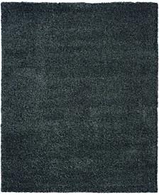 "Cali Shag CAL01 Charcoal 7'10"" x 9'10"" Area Rug"
