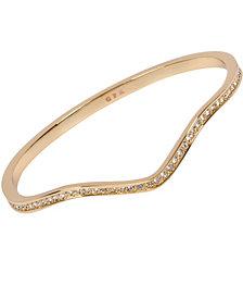 Grace Kelly Collection 18k Gold Plated Zig Zag Bracelet