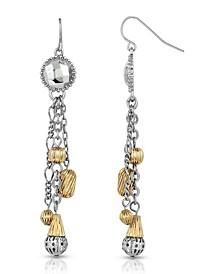Silver-Tone and Gold-Tone Tassel Earrings