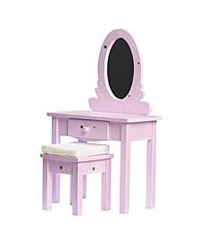 """Twinkle Stars Princess 18"""" Doll Vanity Table Set"""