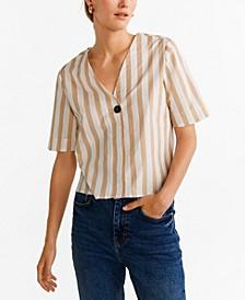 Button Front Stripe Shirt
