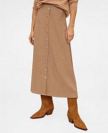 MANGO Button Long Skirt