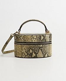 Snake Effect Box Bag