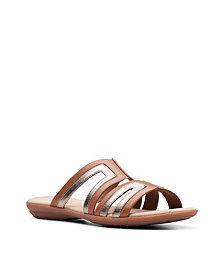 Clarks Collection Women's Ada Lilah Wedge Sandals