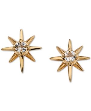 Gold-Tone Crystal Star Stud Earrings