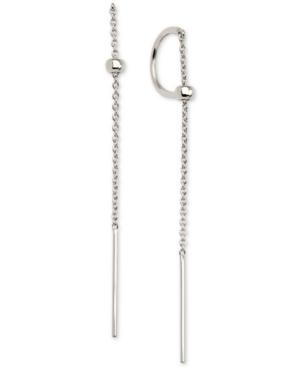 C-Hoop Threader Earrings