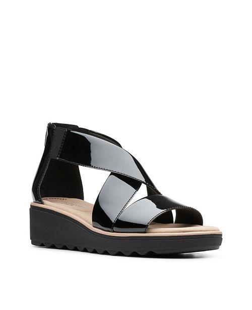 Clarks Collection Women's Jillian Rise Wedge Sandals