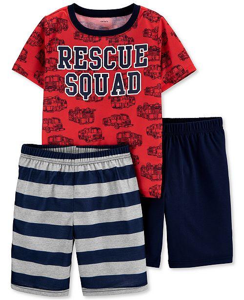 Carter's Little & Big Boys 3-Pc. Rescue Squad Pajamas Set