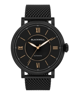 Black Dial with Black Plated Steel and Black Plated Steel Mesh Watch 44 mm