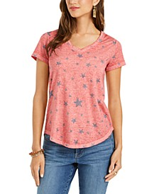 Petite Cotton Printed T-Shirt, Created for Macy's