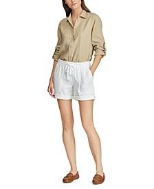 Petite Linen Shorts