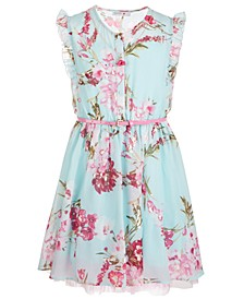 Big Girls Floral-Print Belted Dress
