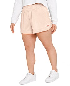 Plus Size Side-Snap Shorts