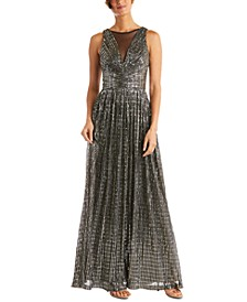 Metallic Illusion Gown