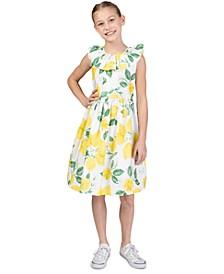Big Girls Ruffled Lemon Dress