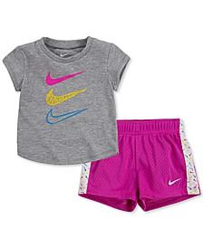 Baby Girls 2-Pc. T-Shirt & Shorts Set
