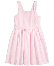 Toddler Girls Cotton Seersucker Dress