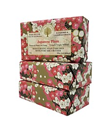 Japanese Plum Soap with Pack of 3, Each 7 oz