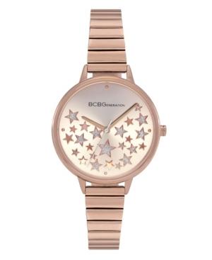 Ladies 3 Hands Slim Rose Gold-Tone Stainless Steel Bracelet Watch