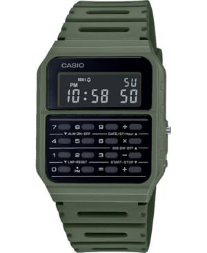 Unisex Digital Calculator Green Resin Strap Watch 34.4mm