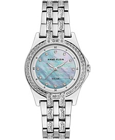 Women's Considered Solar-Powered Silver-Tone Bracelet Watch 31.5mm
