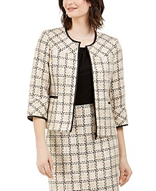 Tweed Zip-Front Jacket