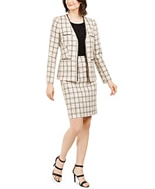 Tweed Braided-Trim Jacket & Pencil Skirt