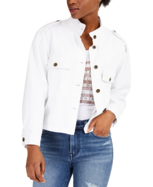 True Religion Button-Front Military Jacket