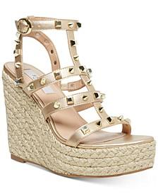 Sallina Studded Platform Wedge Sandals