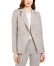 X-Fit Plaid Double-Breasted Jacket