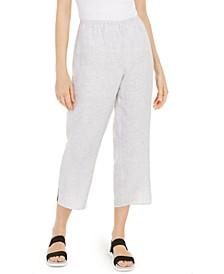 Organic Linen Straight-Leg Pants