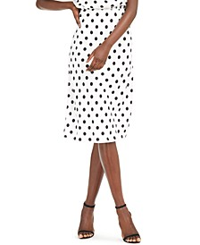 INC Petite Polka-Dot Skirt, Created for Macy's