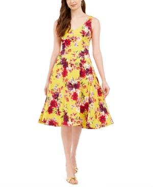 Taylor Floral-Print A-Line Dress