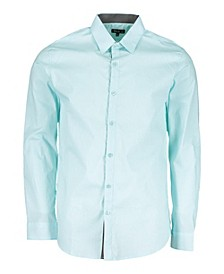 Mens Long Sleeve Solid Slim Fit Dress Shirts