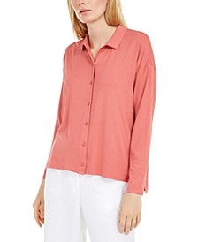 Classic Collared Button-Up Shirt
