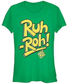 Scooby-Doo Ruh-Roh Collar Text Women's Short Sleeve T-Shirt