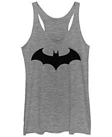 DC Batman Simple Logo Tri-Blend Women's Racerback Tank