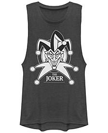 DC Batman Creepy Joker Big Face Festival Muscle Women's Tank