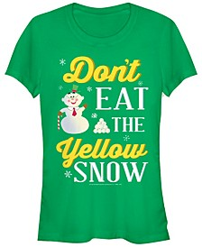 Elf Don't Eat The Yellow Snow Quote Women's Short Sleeve T-Shirt