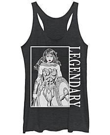 DC Wonder Woman Legendary Portrait Tri-Blend Women's Racerback Tank
