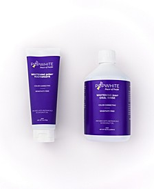 Whitening Primer Whitening Toner Toothpaste, 4 oz + Oral Rinse Pack, 16.9 oz