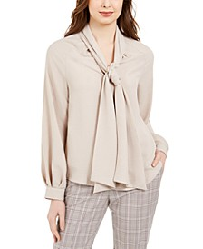 Tie-Neck Bow Blouse