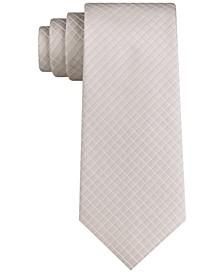 Men's Classic Clean Line Grid Tie